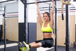 entrenamiento barra dominadas