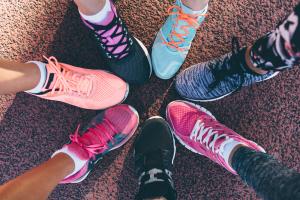 diferentes zapatillas fitness